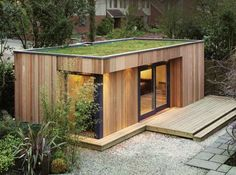 Gorgeous Modern Tiny House Design and Small Homes Collections - Page 37 of 135 Backyard Office, Backyard Studio, Garden Office, Chalet Design, Modern Tiny House, Tiny House Design, Patio Roof Covers, Garden Cabins, Casas Containers