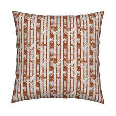 Catalan Throw Pillow featuring CRAZY CHEVRONS ARROWS BROWN LEAVES AUTUMN BARK by…
