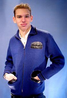 Men's detailed sweater jacket