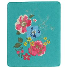 Gorgeous felt iPad case in teal with embroidered floral design in pink, blue and green. Suitable for iPad 1 and iPad2, exclusive at Paperchase.