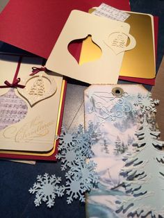 Working on Christmas Cards and Tags!