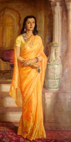 Gayatri in Gold Vintage Saree Sunday vintage sarees saree history
