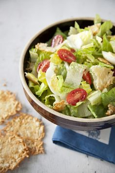 Caesar Salad with Parmesan Crisps