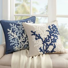 Decorating Made Easy with Matching Sets of Coastal Pillows. Featured on Completely Coastal. Find your Set of Coastal Pillows to Refresh your Space! Coastal Bedrooms, Coastal Living Rooms, Coastal Homes, Coastal Cottage, Coastal Curtains, Coastal Farmhouse, Modern Coastal, Coastal Decor, Coastal Style