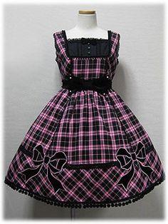 AP Märchen Tartan Ribbon JSK Black/Pink « Lace Market: Lolita Fashion Sales and Auctions