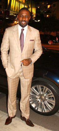 Idris Elba-- looking good Sharp Dressed Man, Well Dressed Men, Handsome Black Men, Black Man, Just Beautiful Men, Vintage Black Glamour, Idris Elba, African American Men, Fine Men