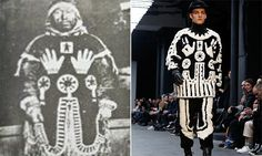 British label Kokon to Zai copied a parka of an Inuit holy man. The shaman, Awa, decorated his black and white parka with holy symbols to protect him from drowning. The parka and design is supposed to be unique to the shaman who created it, in order to preserve its spiritual powers. The design was used without the permission of Awa's descendants. Designers should not use other culture's religious imagery for profit.