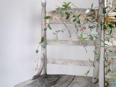 Primitive Weathered Chair Porch Garden Farmhouse by owlsongvintage, $115.00