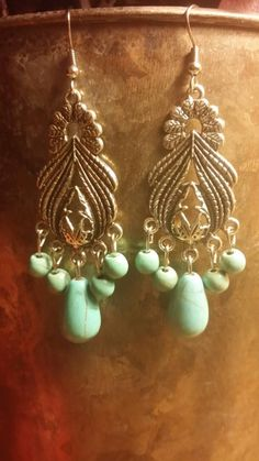 Check out this item in my Etsy shop https://www.etsy.com/listing/219364884/turquoise-earrings-tibet-silver-earrings