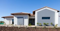 Langebaan Country Estate offers a laid back, leisurely kind of lifestyle to its residents, with many activities within the estate and surroundings. Grey House Paint, Tree Support, La Haye, Garden Entrance, Grey Houses, Green Bedding, Entrance Design, Country Estate, House Painting