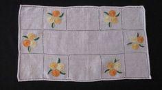 Oranges and Lemons - Vintage Embroidered Doily