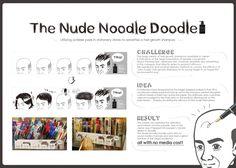 the nude noodle doodle, zero scalp Japan Advertising, Noodle Doodle, Hair Growth Shampoo, Stationery Store, Guerilla Marketing, Concept Board, How To Draw Hair, Ad Design, Noodles