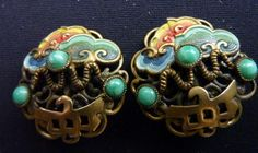Art Deco Max Neiger Earrings - Chinese Style | eBay. Originally pinned by Juniper Jelly (juniperjelly)