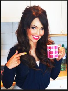 Katie with new hair and her Loose Women mug! Katie Piper, New Hair, Mugs, Women, Cups, Women's, Tumbler, Mug, New Hairstyles