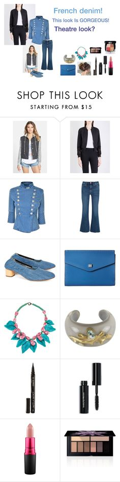 """""""For Scarlett (friend) - Scarlett's ideal wardrobe by me: #425: French demon!"""" by sarah-m-smith ❤ liked on Polyvore featuring Billabong, French Connection, Pierre Balmain, M.i.h Jeans, Robert Clergerie, Lodis, Appartement à Louer, Smith & Cult, Bobbi Brown Cosmetics and MAC Cosmetics"""