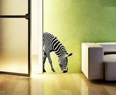 Zebra  vinyl wall  decals words sticker by twiceasnicelettering, $29.00