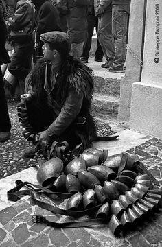 "A ""Mamuthone"" with his bells [Mamoiada]"