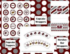 Aggie football party printables
