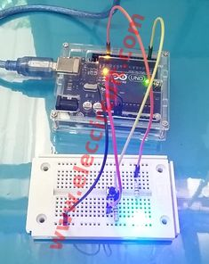 """Today we will as push button switch as toggle switch. When we press the button """"on"""" it will store status """"on"""" hold, although, we will release. Then, we press it again it will """"off"""" and store Arduino Projects, Nintendo Consoles, Keyboard, Coding, Buttons, Digital, Phone, Circuit, Keys"""