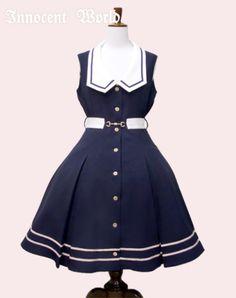 76 Navy×Beige Rococo Fashion, Lolita Fashion, Anime Outfits, Dress Outfits, Fashion Outfits, Japanese Outfits, Japanese Fashion, Kawaii Fashion, Cute Fashion