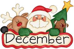 There are a ton of holidays to celebrate in the month of December - thats why its known as the holiday season. Get ready for Christmas, Boxing Day, Kwanzaa, Hannukah and New Years Eve. Christmas Graphics, Christmas Clipart, Christmas Images, Christmas Printables, Christmas And New Year, All Things Christmas, Christmas Time, Christmas Crafts, Christmas Decorations