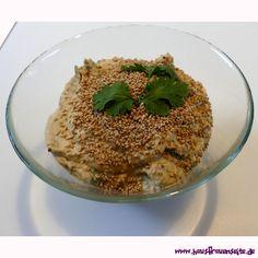 Sesam-Sauce - Diprezept unsere Sesamsauce schmeckt wie Hummus, hat aber deutlich weniger Kalorien vegetarisch vegan laktosefrei glutenfrei
