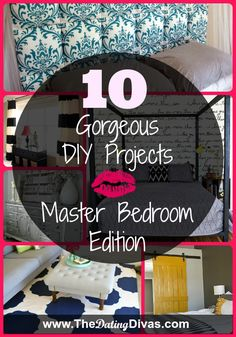 TOP DIY Projects for your Master Bedroom! Sooo many cute ideas!  #socute #DIYDecor #BedroomIdeas