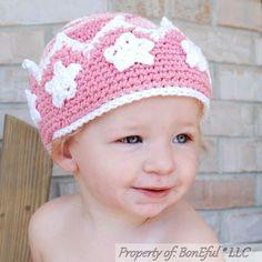 BonEful RTS NEW Boutique Crochet Knit Red Mickey Xmas WINTER S Baby HAT Boy Girl