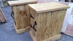 Pair of bedside tables / cupboards made with by PalletEarth