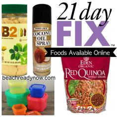When trying to find specialty clean eating foods for the 21-Day Fix, it can be difficult if you live in a small town or remote area. Luckily, Amazon carries a lot of the non-perishable foods that you can use in your clean eating menu plans. Most of them are available for Free Super Saver Shipping …