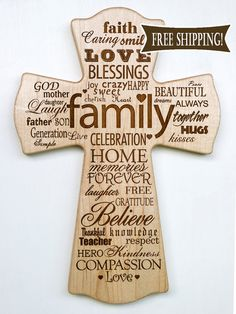 Hey, I found this really awesome Etsy listing at… Painted Wooden Crosses, Wood Crosses, Wood Burning Crafts, Wood Burning Patterns, Laser Engraving, Custom Engraving, Engraving Ideas, Cnc Wood Router, Laser Engraved Gifts