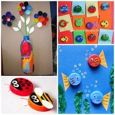 Plastic Bottle Cap & Lid Crafts for Kids - Crafty Morning