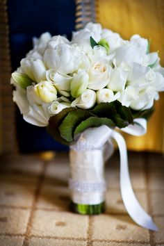 White Bridal Bouquet.  Flowers of Charlotte loves this!  Find us at www.charlotteweddingflorist.com