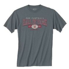 Pro Football Hall of Fame Charcoal Distressed Graphic T-Shirt. Click to order! - $19.99