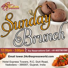Get out of those monotonous sunday routines and just have a superb sunday brunch at 24 Carats Multi Cuisine Restaurant !!