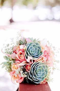 Succulent wedding bouquet You are in the right place about silk wedding bouquets Here we offer you the most beautiful pictures about the wedding bouquets greenery you are looking for. When you examine Spring Wedding Bouquets, Beach Wedding Flowers, Rose Wedding Bouquet, Spring Bouquet, Wedding Colors, Bridal Bouquets, Bridesmaid Bouquets, Spring Weddings, Wedding Beach