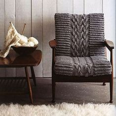 Knitted chair, why didn't I think of this!