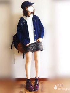 こんにちは! 最近の撮り溜めコーデです。 久しぶりにカモフラスカート♪ 今日も見て頂きありがとうござ Denim Pants, Denim Skirt, Cute Fashion, Girl Fashion, Dress Codes, Korean Fashion, Overalls, Casual Outfits, Whistles Jeans