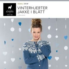 Vinterhjerter jakke i natur – Du Store Alpakka Cardigans, Sweaters, Knitting, Baby, Scale Model, Tricot, Cast On Knitting, Sweater, Pullover
