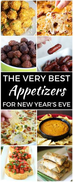 The Very Best Appetizers for New Year's Eve is part of New Years Eve appetizers - Nothing says New Year's menu like appetizers! This list of over 15 appetizer recipes will have you all set to ring in the new year Bring on the party food! New Year's Eve Appetizers, Finger Food Appetizers, Finger Foods, Party Appetizers, Appetizers For Christmas, Appetizers For New Years, Vegetarian Appetizers, Christmas Snacks, Yummy Appetizers