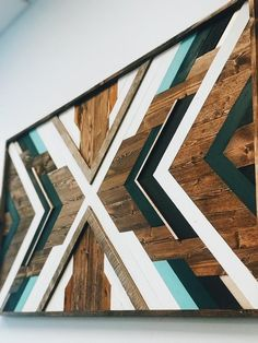 Geometric wood wall art wood mosaic reclaimed wall art Etsy x art diy art easy art ideas art painted art projects Reclaimed Wood Wall Art, Rustic Wall Art, Rustic Walls, Wooden Wall Art, Diy Wall Art, Wall Wood, Diy Wood, Art On Wood, Wood Artwork