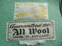 All Wool Blanket - made expressly for Waring and Gillow