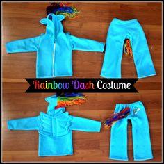 Rainbow Dash My Little Pony Costume sewing tutorial pattern