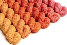 Crescendo hand-dyed gradient sets - Sweet Paprika Designs Wool Yarn, Knitting Yarn, Vibrant Colors, Colours, Knitted Slippers, Finger Weights, Rustic Feel, Hand Dyed Yarn, Needles Sizes