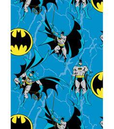 Dc Comics Batman Rope Fleece Fabric