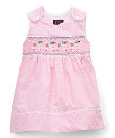 b6c1a65f8f96 Lil Cactus Pink Polka-Dot Poodle A-Line Dress - Infant, Toddler & Girls