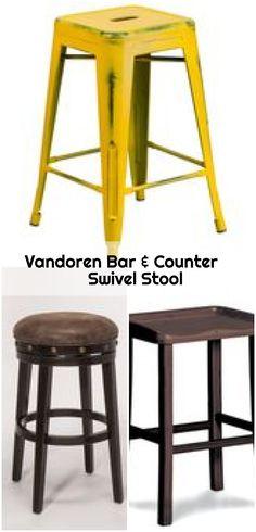 Bar & Counter Swivel Stool, Vandoren Bar & Counter Swivel Stool , Streamlined simplicity with stan Fashion Design Portfolio, Counter Bar Stools, Duke, Backless, Bronze, Wood, Furniture, Home Decor