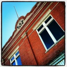 Building in downtown Sanger, Texas. Instagram app used to deepen color.