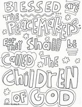 Blessed Are The Peacemakers Printable Coloring Page See More At