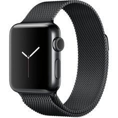 Apple Watch Series 2 38mm Space Black Stainless Steel Case with Space... (2.330 BRL) ❤ liked on Polyvore featuring jewelry, watches, stainless, sport watch, heart-shaped watches, stainless steel wrist watch, heart jewelry and stainless steel jewellery